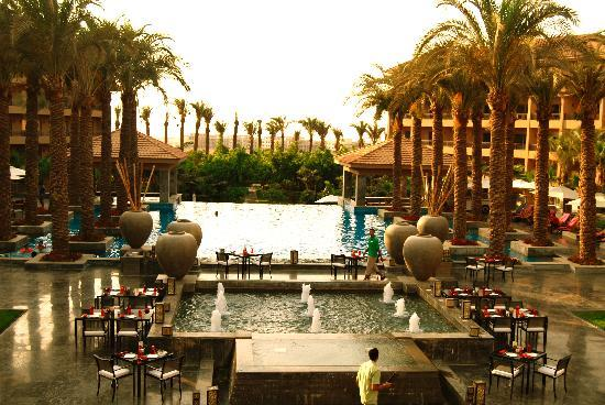 Dusit Thani LakeView Cairo: pool area by day