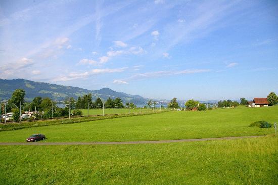 Bed & Breakfast oasee: Blick vom Balkon in Richtung Zürich