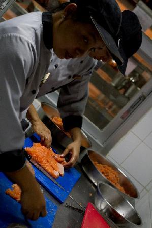 Phou Savanh: Chef working