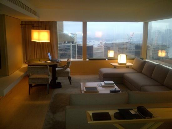 The Upper House: Suite on 48th floor. Lounge Area