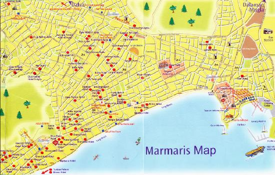 marmaris map Picture of T and G Apartments Marmaris TripAdvisor
