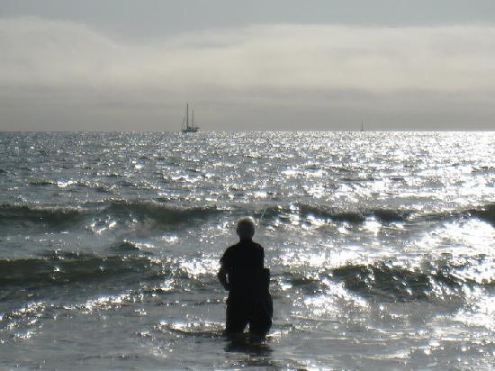 Gruissan, Prancis: Surfcasting par un coup de marin