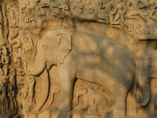 Chennai (Madras), India: Arjun Mandapam with beautiful carvings