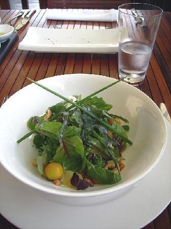 Salad with white choclate balsamic vinaigrette