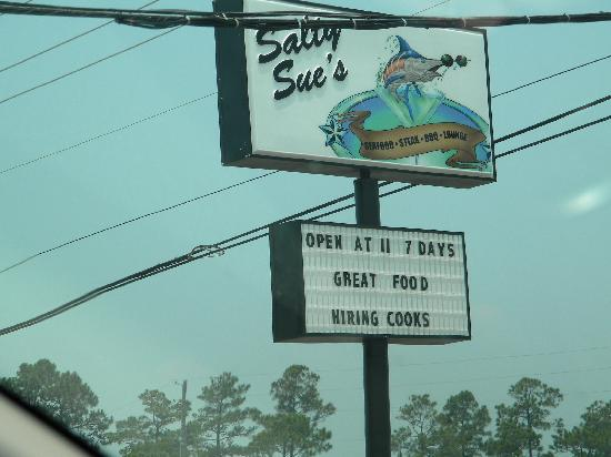 Salty Sue's: This is how you know that you're at the right place!