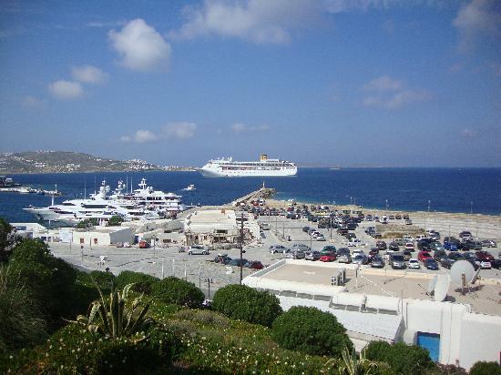 โรงแรมปอร์โต มิโคนอส: Port View from Porto Mykonos hotel