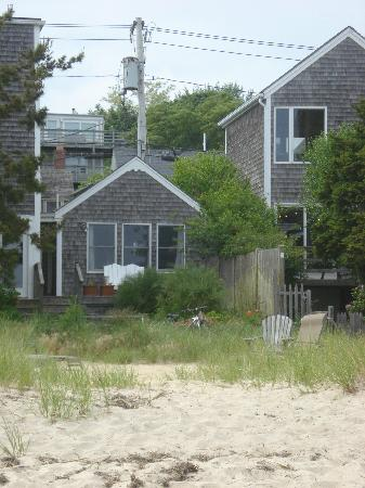 Aerie House & Beach Club: A view of the cottage from the shore