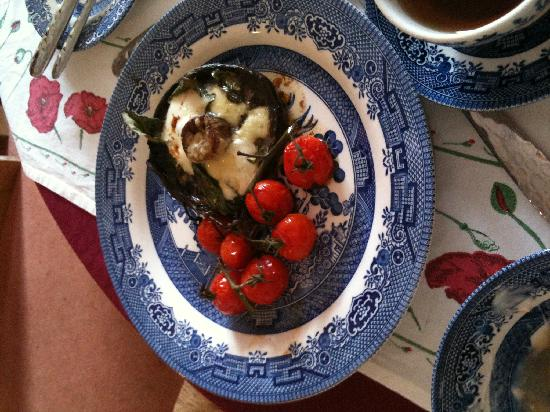Chimneys B & B: Field mushrooms -- not on the menu but excellent