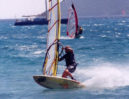 Vasiliki, Greece: Windsurfing is only 500m away