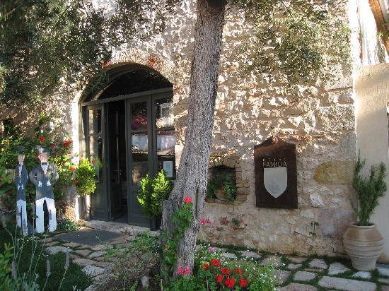 Vathy, Grecja: entrée de la maison