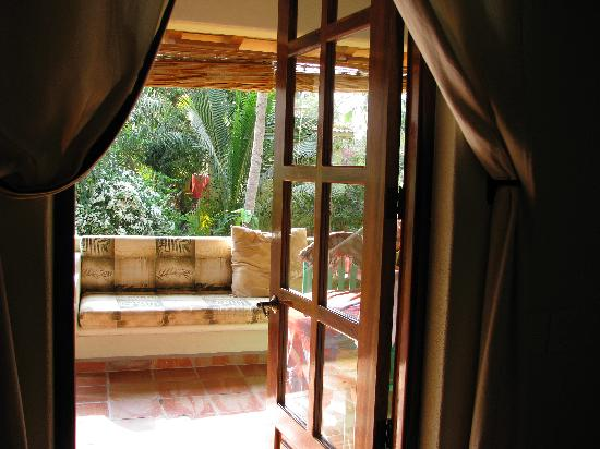 Roberto's Bungalows: View from inside looking out.