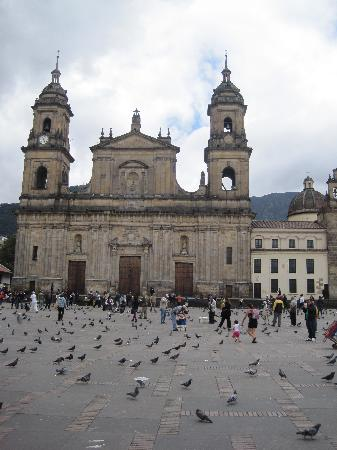 Plaza de Bolivar: Plaza and its pigeons