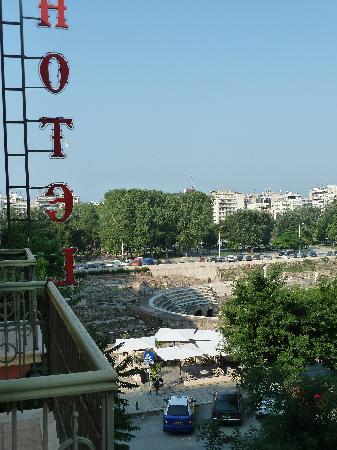Hotel Orestias Kastorias: Agorà Romana vista dal balcone della stanza