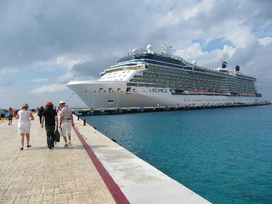 The Equinox decked at Cozumel
