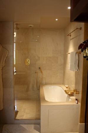 Park Hyatt Paris - Vendome : Bath and shower in the Park Suite King