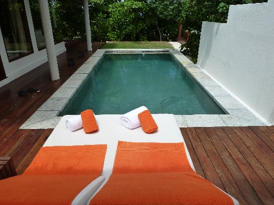 Jumeirah Dhevanafushi: Our own private pool