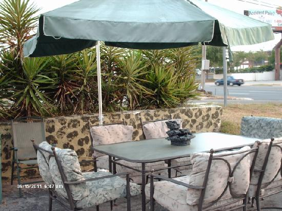 Shamrock Inn: Cook out patio area