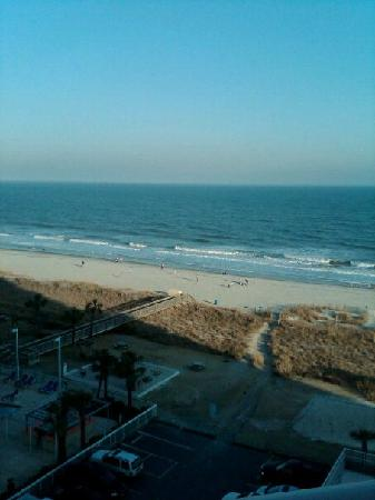 Dunes Village Resort: View from our room (angle oceanside queen)