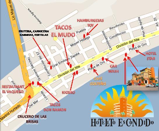 Hotelito Escondido Manzanillo: MAPA DEL HOTEL