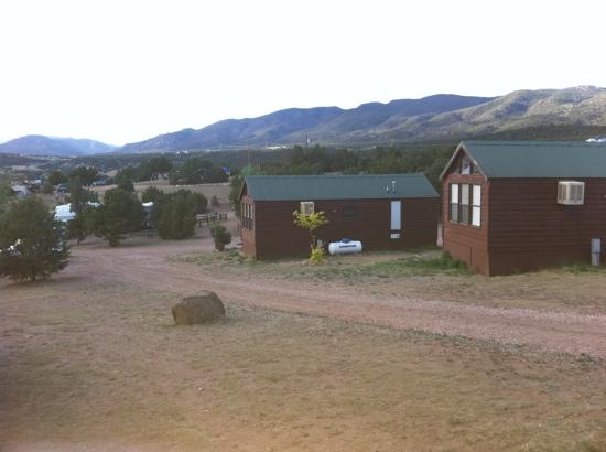 Prospectors RV Resort: West view from cabin 10