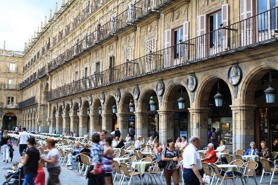 Salamanca, Spanien: Town square
