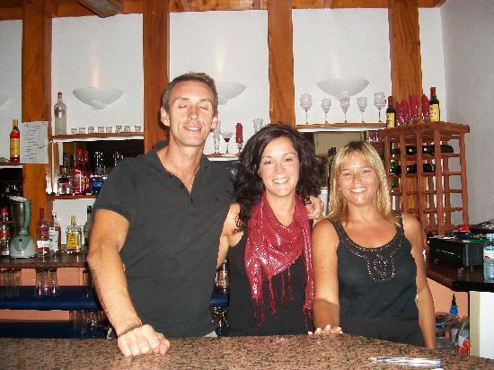 Club Tahiti: Gemma Andy Gerry at the club house
