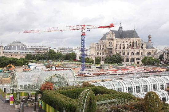 Novotel Paris Les Halles: Construction near hotel