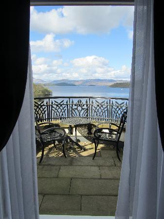 Cameron House on Loch Lomond: view from room....