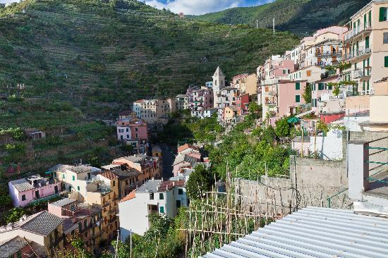 Il Carugio: Houses along the hillside in Manarola