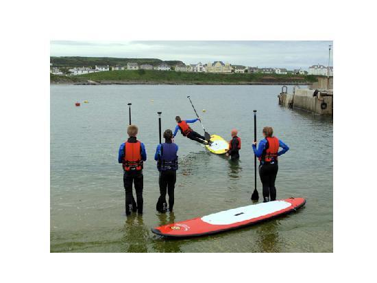 Surf Sup NI: falling off safely