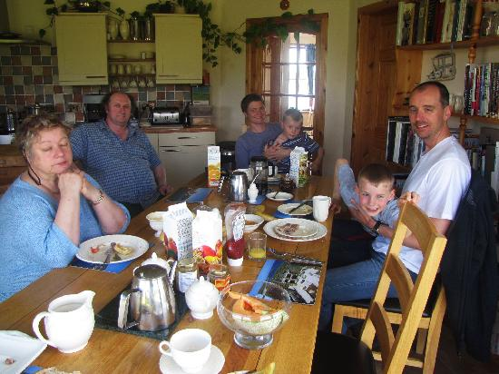 Castlehill Orkney: A relaxed breakfast in the kitchen