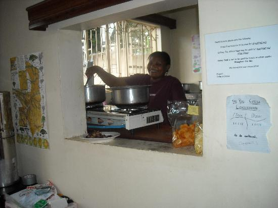 Ujamaa Hostel: The lovely Sarafina cooking heaven on a dinner plate