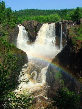 Grand Portage, MN: Rainbows are common