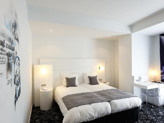 Comfort Hotel Centre Del Mon: Twin room Comfort Centre del Mon Perpignan