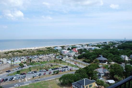 Lighthouse Inn: full view of Tybee North Beach (taken from lighthouse!)