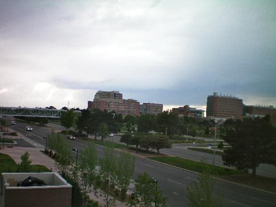 Aurora, CO : View from my room of Univ, Of CO Hospital