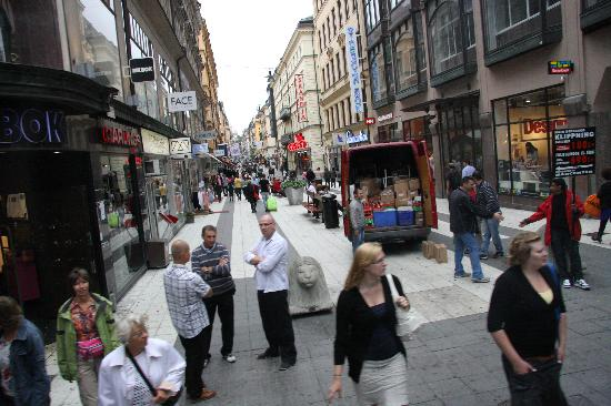 Stockholm, Sweden: walking and shopping street