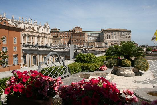 Residenza Paolo VI: View from the terrasse