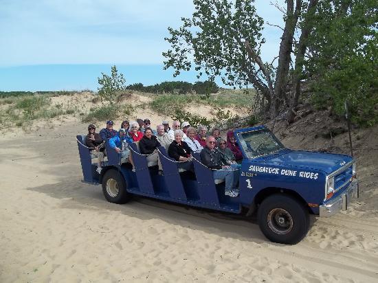 Saugatuck Dune Rides: Dune buggy with 18 passengers