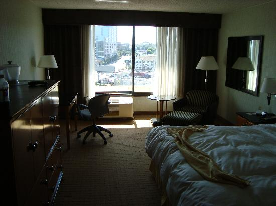 Ramada Culver City : Inside room as I was leaving thus looking a tad disheveled