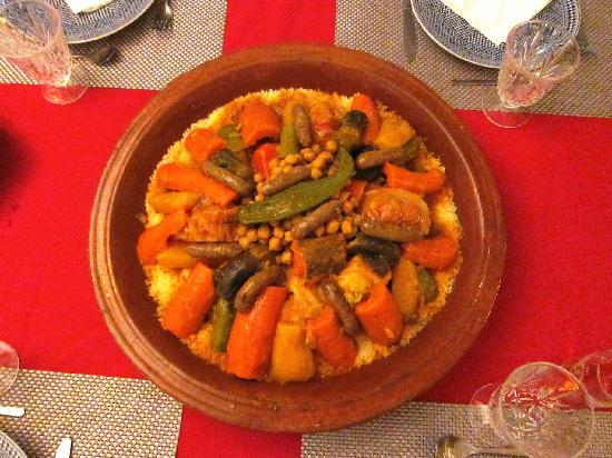 Couscous Royal de Rachida au Riad Miliana