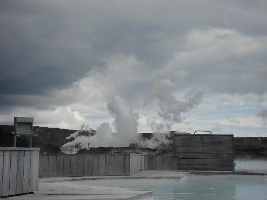 Grindavik, Islande : Inside Blue Lagoon bathing area