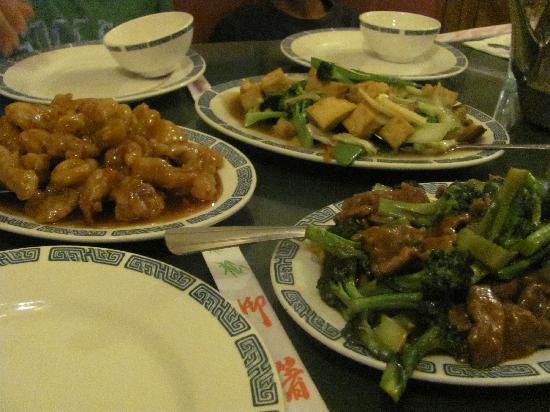 Chinatown Restaurant: our dinner