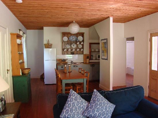 Allenvale: Great Ocean Road, Lorne. Open plan kitchen and living areas with front and rear balconies