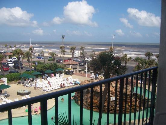 Hilton Galveston Island Resort: View from our bed!