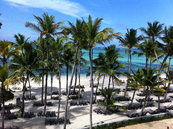 Barcelo Bavaro Palace Deluxe : View from my room with private jacuzzi on balcony