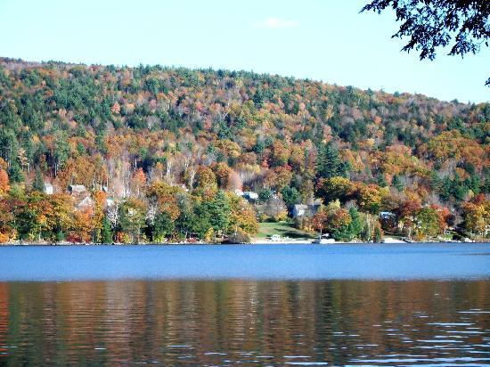 Six Chimneys & A Dream: October over Newfound Lake looking towards Plymouth Mountain.