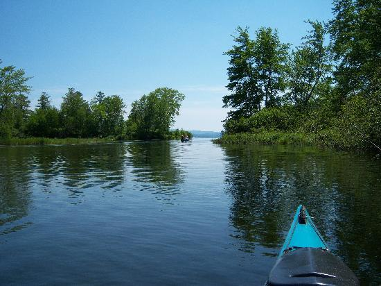 Six Chimneys & A Dream: Paddling down the Cockermouth River into Newfound Lake, a perfectly serene way to spend a day.