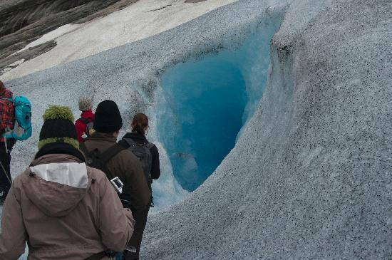 Nigardsbreen Glacier: ice cave