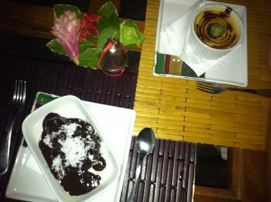 Casa Acayu Pousada & Bungalows: Pudding as good as the dinner
